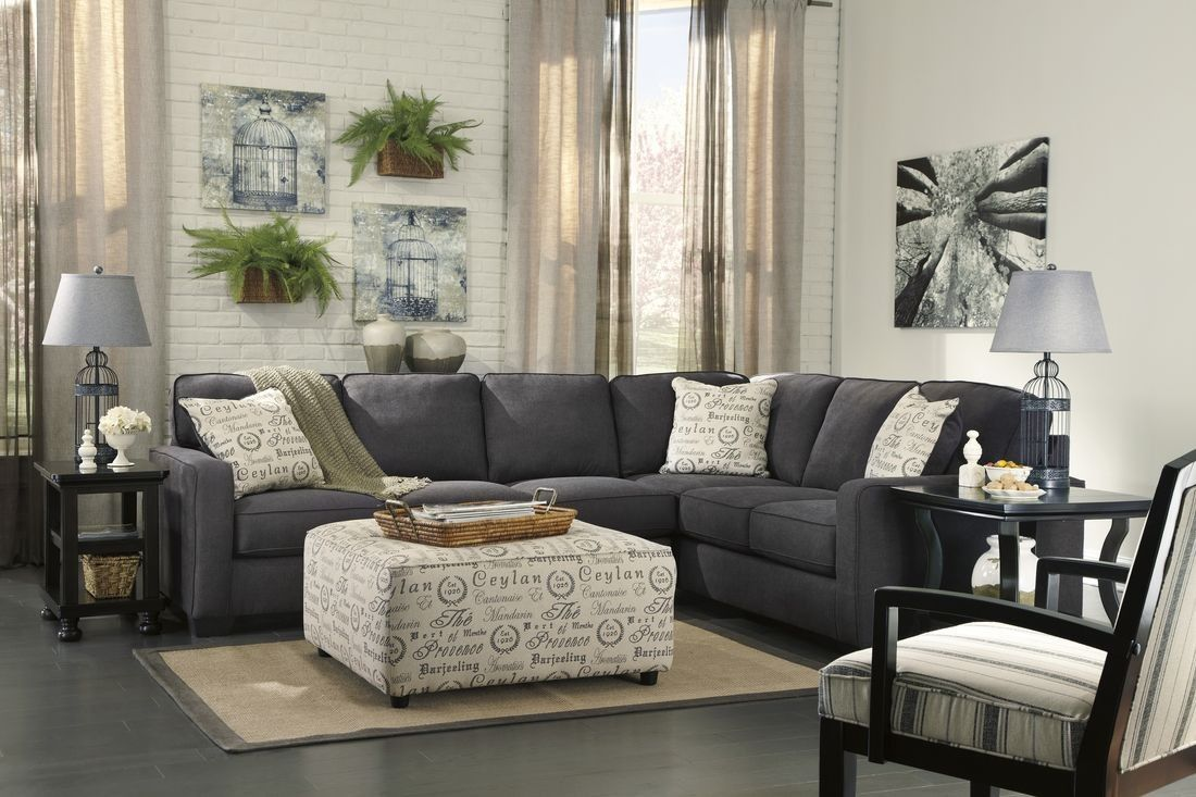 Ashley Furniture Alenya Sectional In Charcoal Gray Sectional