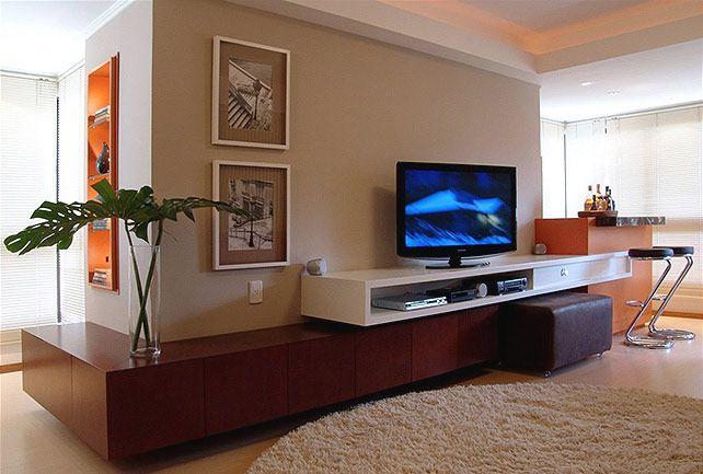 Home Na Sala De Estar ~ de sala de estar com tv na parede  Pesquisa Google  Sala de Estar