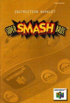 amazon com super smash bros n64 instruction booklet nintendo 64 rh pinterest com Nintendo Consoles Nintendo Switch