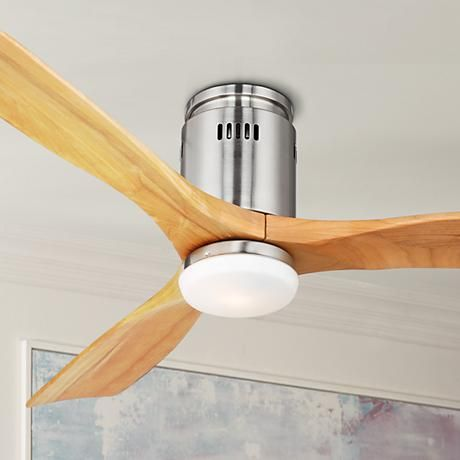 52 possini euro design admiralty brushed nickel ceiling fan this hugger style ceiling fan from possini euro design has a brushed nickel finish with three tong wood blades in a light oak finish mozeypictures Image collections