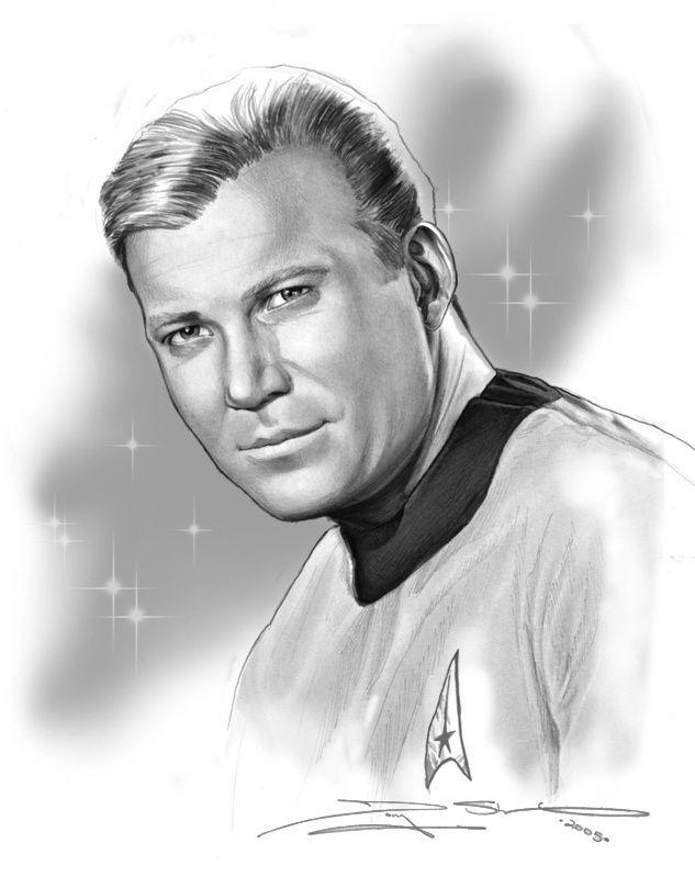 """William Shatner as Captain James T. Kirk on """"Star Trek"""""""