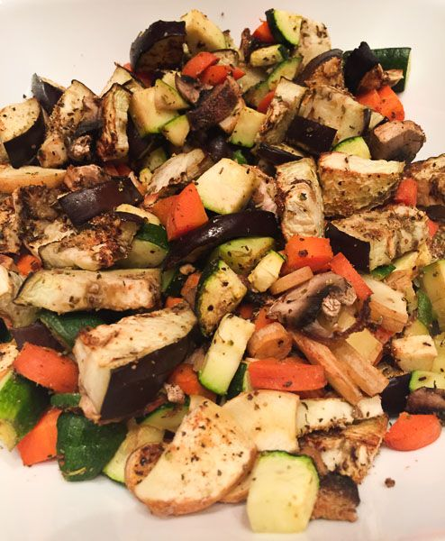 Oven- Roasted Vegetables ~ The easiest and BEST way to roast vegetables. They come out perfect and are packed with so much flavor! | Double Dose Fitness