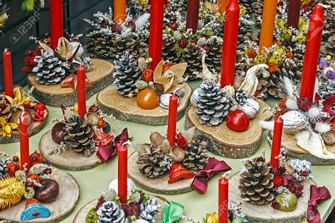 pictures of christmas pine cones - Google Search
