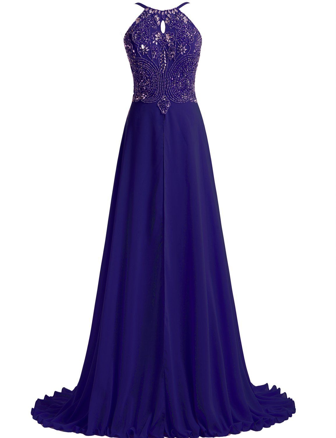 Lovingdress womenus prom dresses chiffon with straps beaded bodice