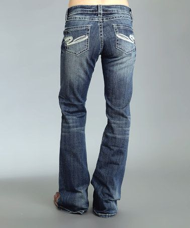 Another great find on #zulily! Blue Sandblast 'S' Pocket Bootcut Jeans - Women & Plus #zulilyfinds