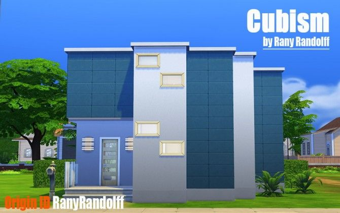 Cubism house by Rany Randolff at ihelensims via Sims 4 Updates