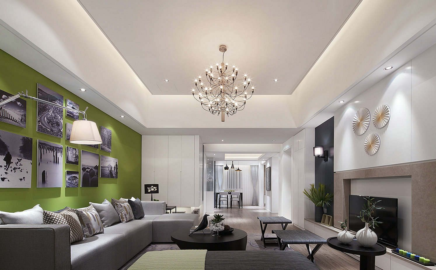 Pin By Home Apartment On Living Room Decorations Rectangular Living Rooms Simple Ceiling Design Ceiling Design Living Room