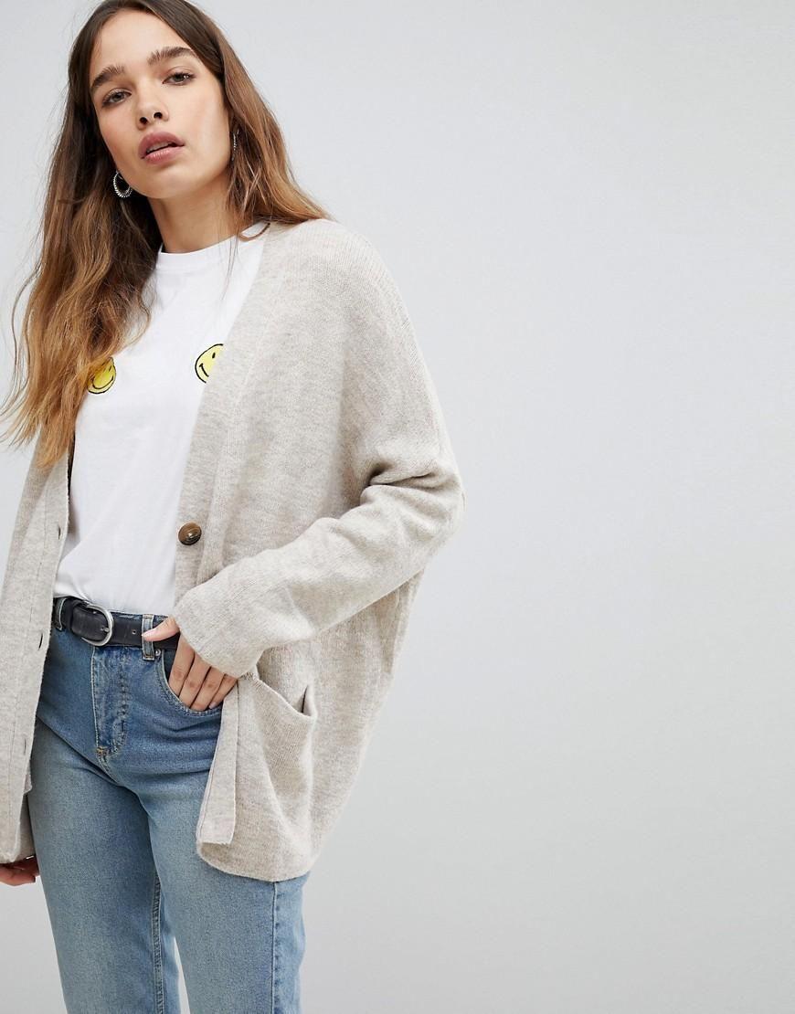 b297f1d49da7dc #ASOS - #Pull & Bear Pull & Bear Oversized Button Detail Cardigan