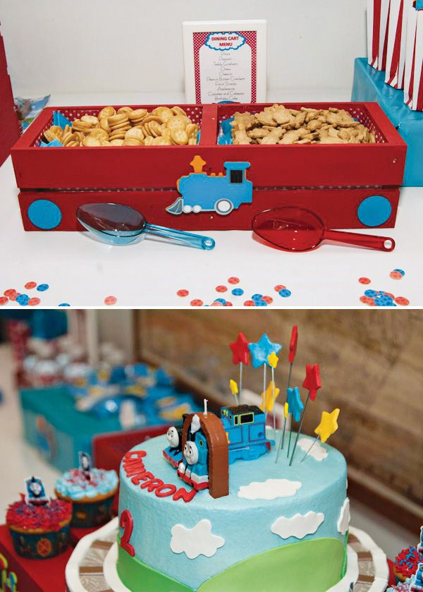 Thomas Friends Train Themed Party 2nd Birthday Themed