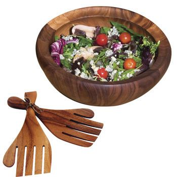 Costco Ironwood Gourmet Large Salad Bowl With Salad Hands
