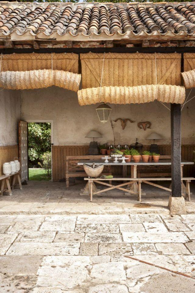 Rural estilo r stico porches r sticos terrazas y - Estores para terrazas ...