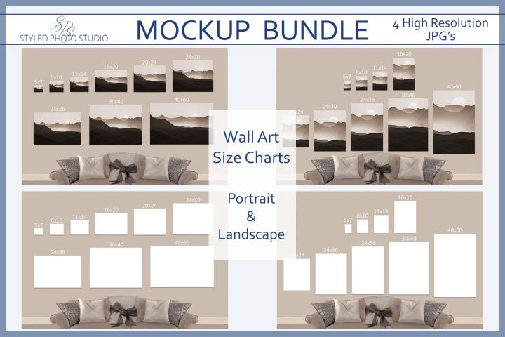 size chart poster mockup landscape