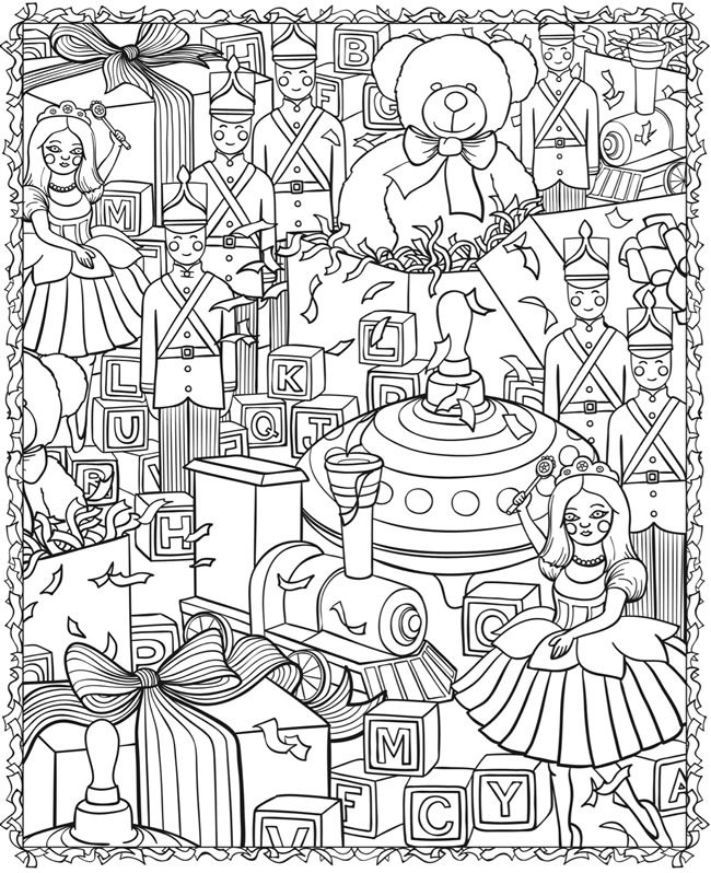 3D Colouring Book - Christmas Designs @ Dover Publications … | Pinteres…