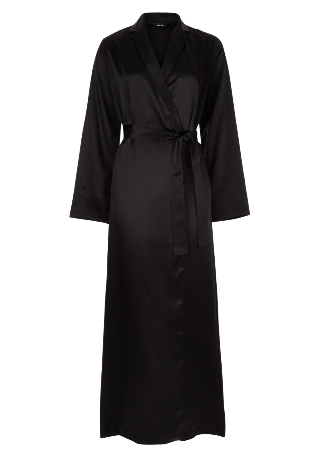 Black Silk Long Robe In 2020 Black Silk Robe Long Robe Black Silk