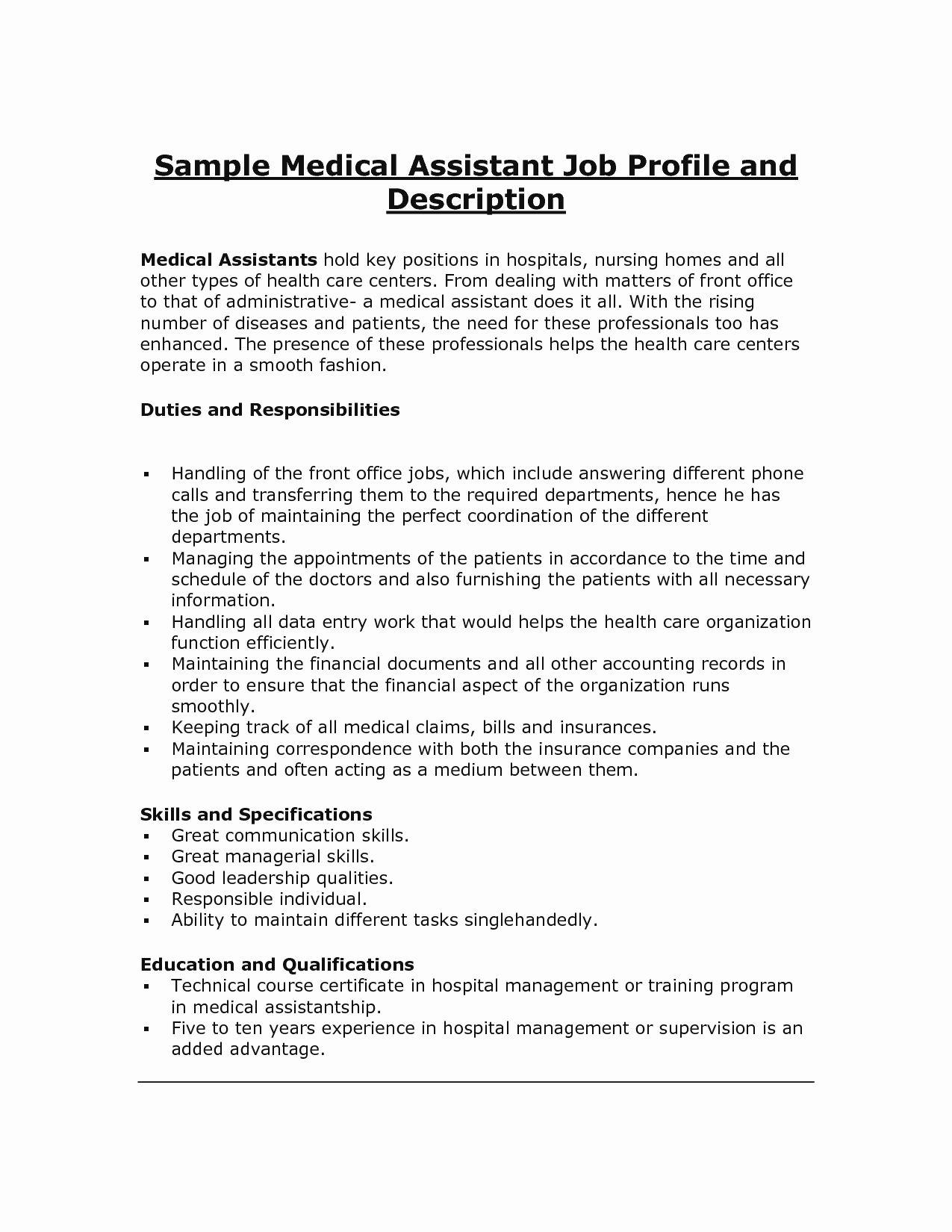 20 Concierge Job Description Resume Medical assistant