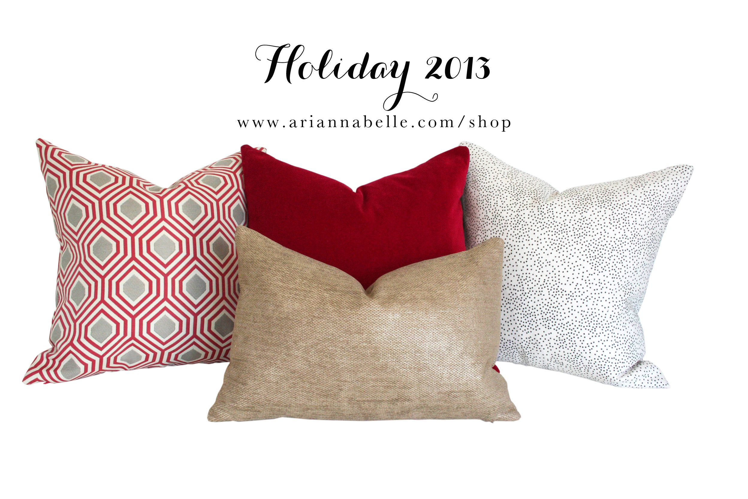 Pillows To Dress Up Your Home For The Holidays But Can