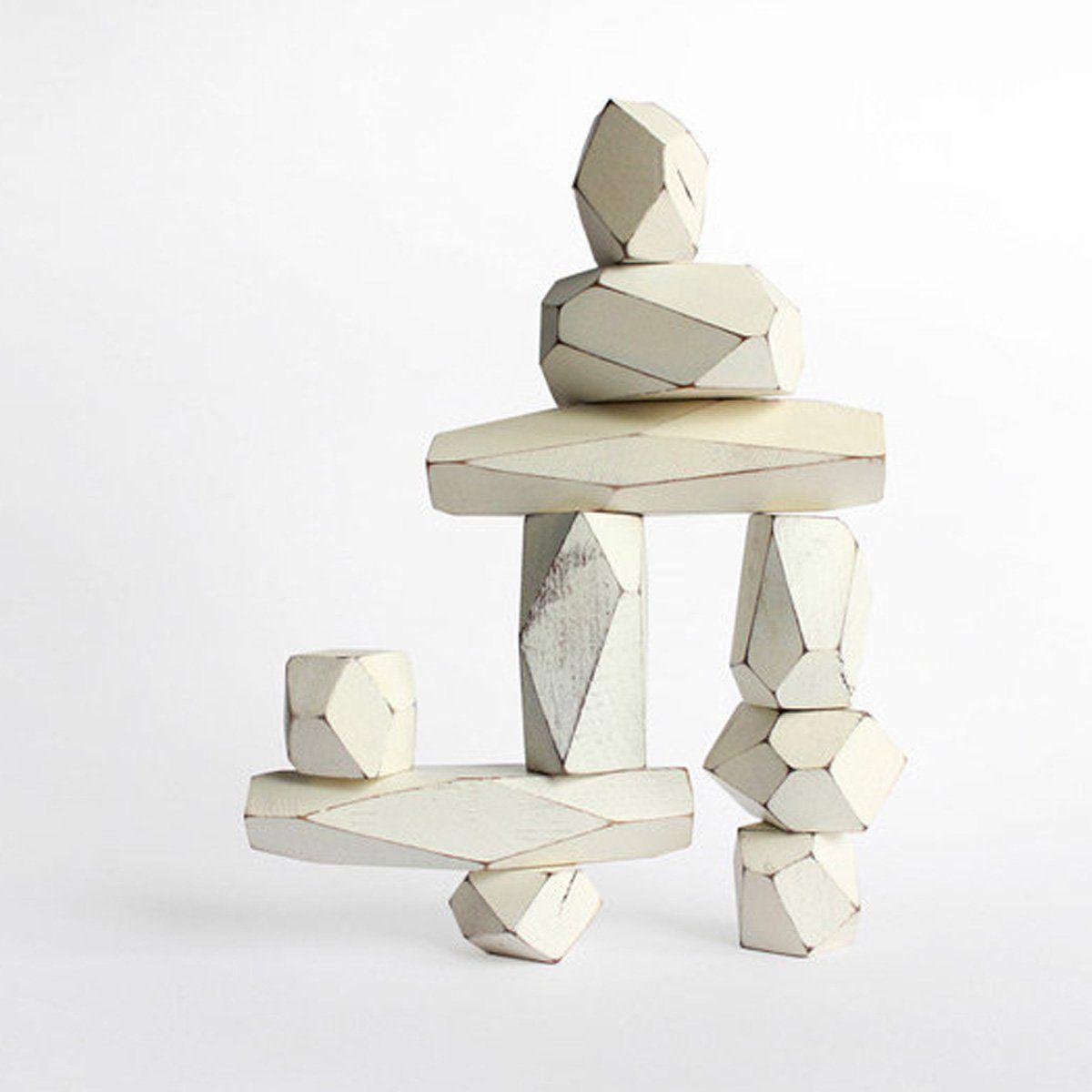 Areaware Balancing Blocks, White