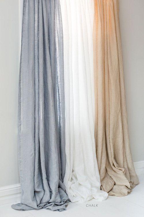 Hampton Linen Curtain Set In 2019 Bed Linen Master