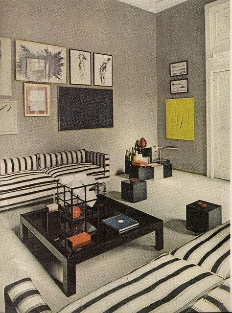 Milan Apartment By Carla Venosta,1968 Wohnzimmer, Innenarchitektur