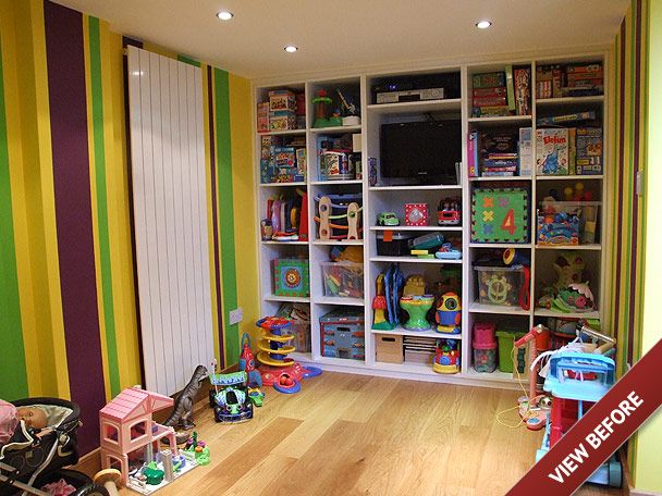 Childrens Playrooms playroom storage ideas | garage conversion in to a childrens