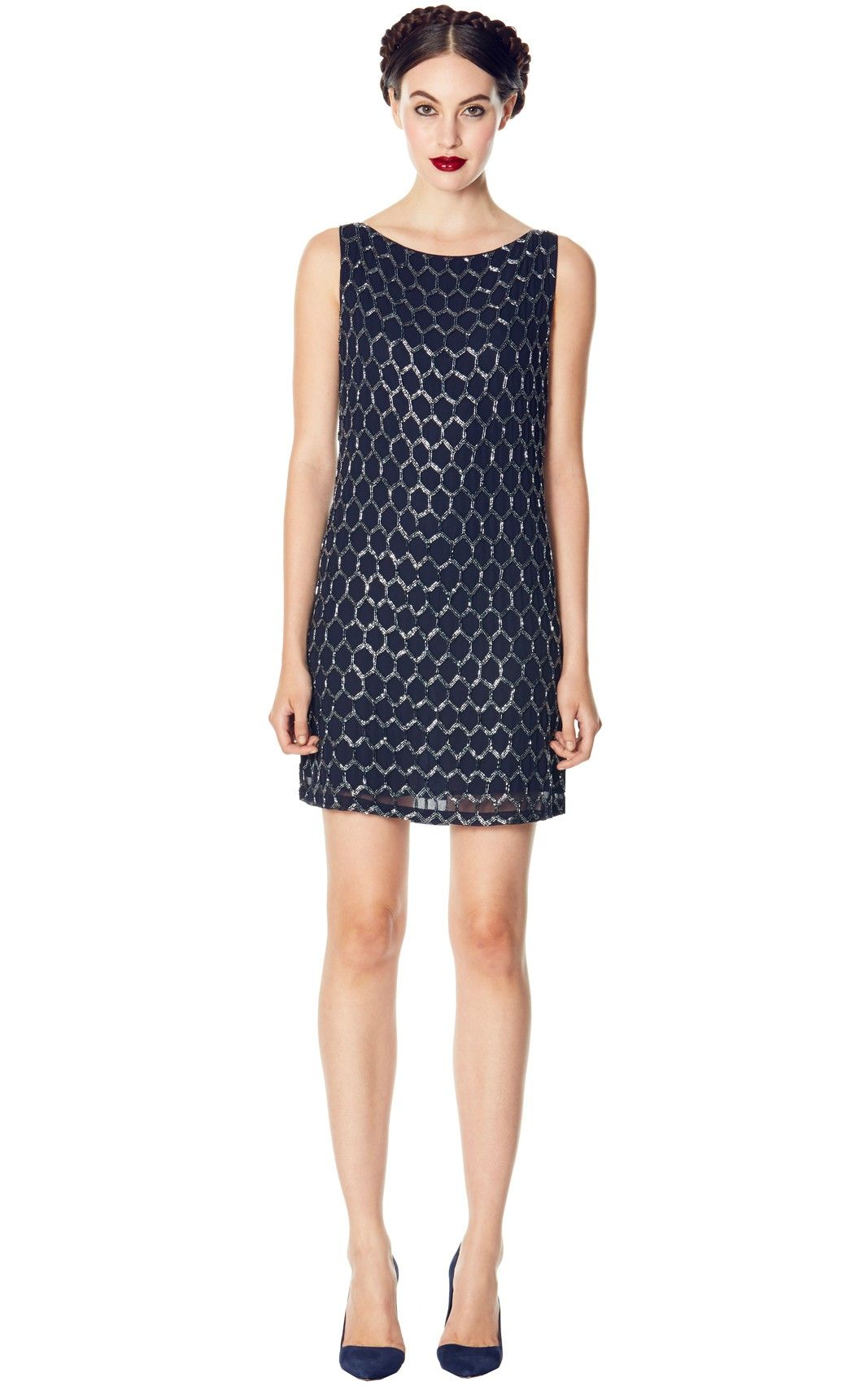 Alice + Olivia DAYLA BEADED A-LINE DRESS