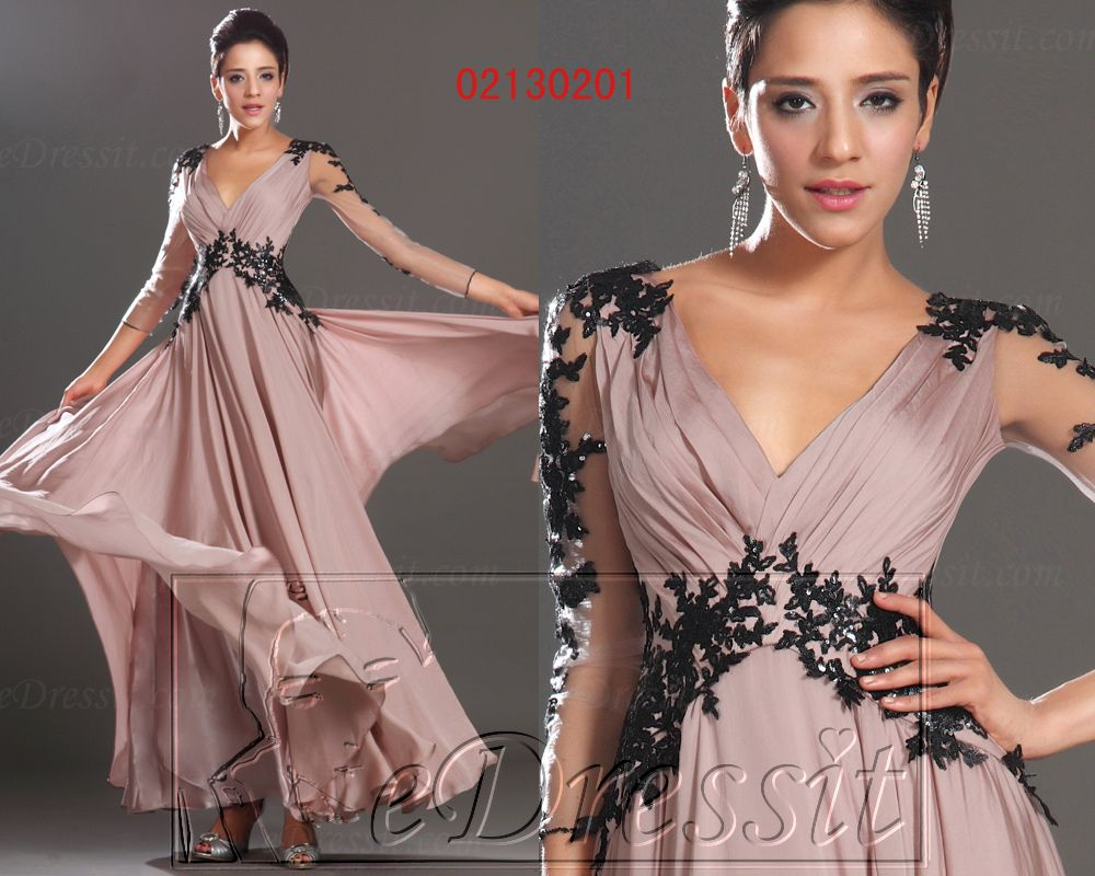 Edressit new elegant lace on sleeves evening dress prom ball gown us