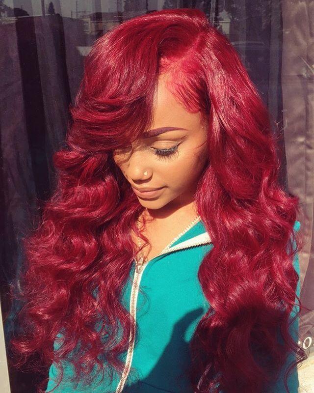 Red Sew In Weave : weave, Brandon, @hairbybrandon, Never, 😍😩Instagram, Photo, Websta, Styles,, Hairstyles,