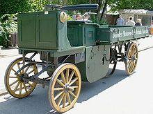 Model Of A Dmg Lastwagen 1896 First Gasoline Truck Trucks