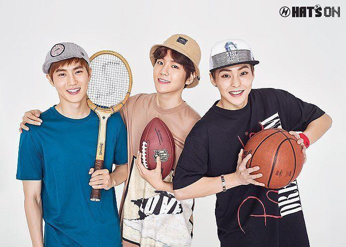 Suho, Baekhyun e Xiumin EXO