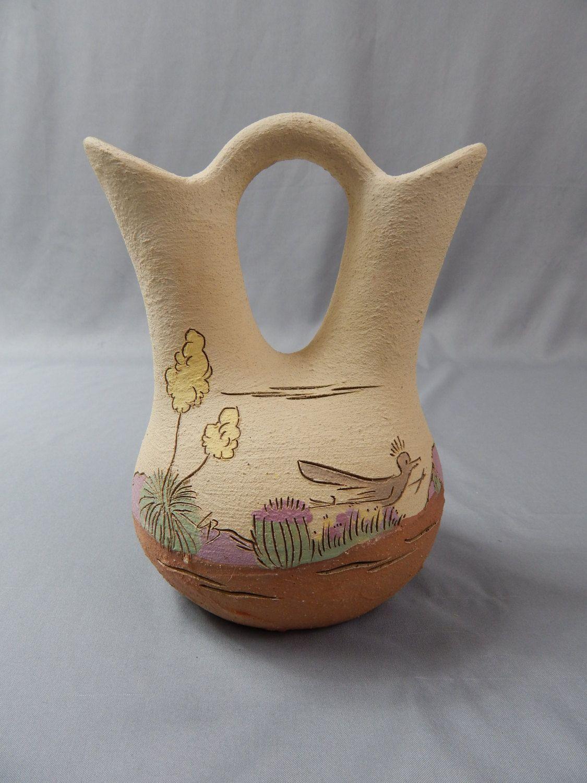 Vintage Native American Wedding Vase Artist Signed