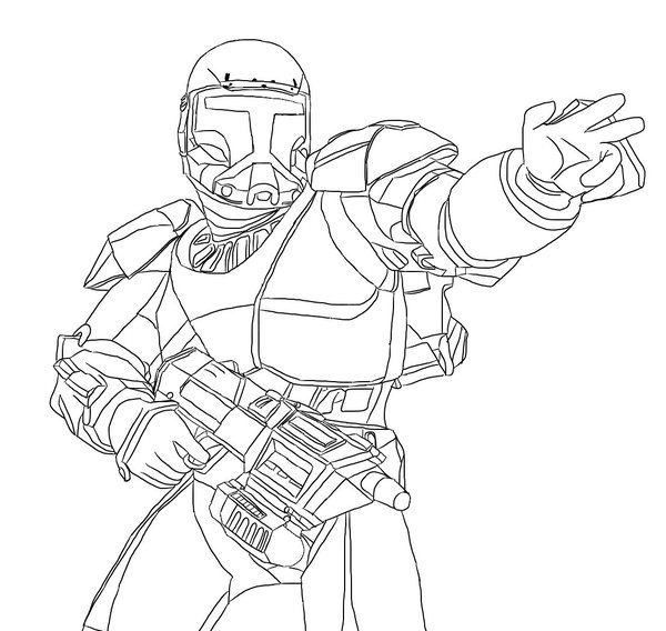 Star Wars Republic Commando Coloring Pages