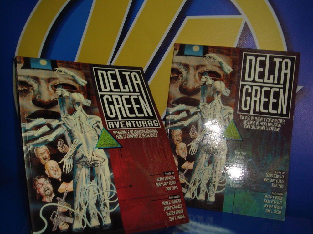 Dos juegos de rol DELTA GREEN  y DELTA GREEN AVENTURAS
