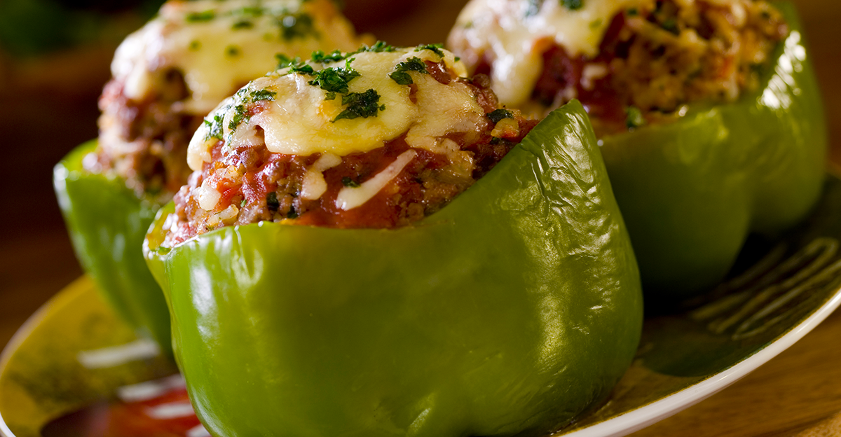 The Best Stuffed Peppers You Will Ever Eat The Peppers Are Super Tender After A Quick Par Boil Before They Are Air R Stuffed Peppers Air Fryer Recipes Recipes