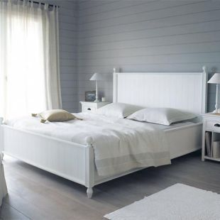 Lit 160x200 En Pin Blanc Chambres Bed Affordable