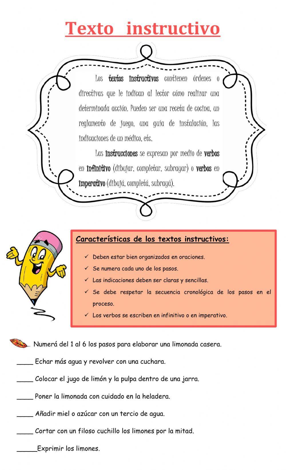 Texto Instructivo Ficha Interactiva Texto Instructivo Para Niños Instructivo Instructivos Para Niños