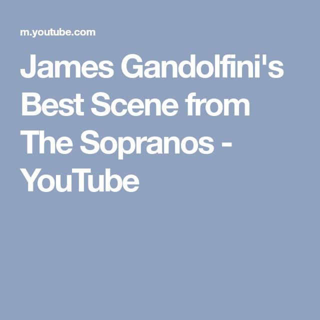 James Gandolfini\'s Best Scene from The Sopranos - YouTube ...