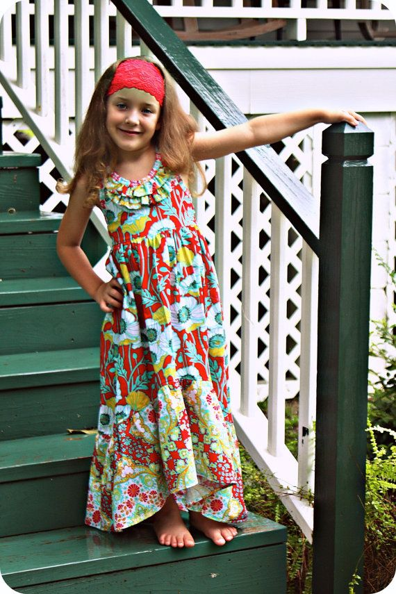 PDF Pattern Girls Sewing Pattern The Sophia Maxi by pinkpoodlebows ...