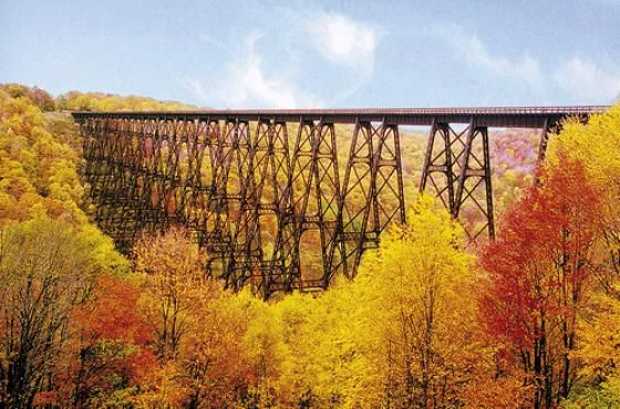 Kinzua Bridge In Its Original Glory Railroad Bridge Travel Sights Allegheny Mountains