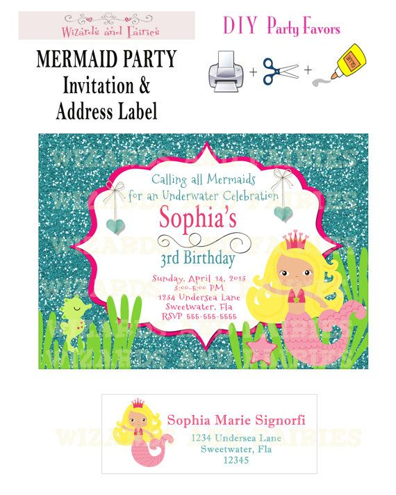 Printable invitations and address labels