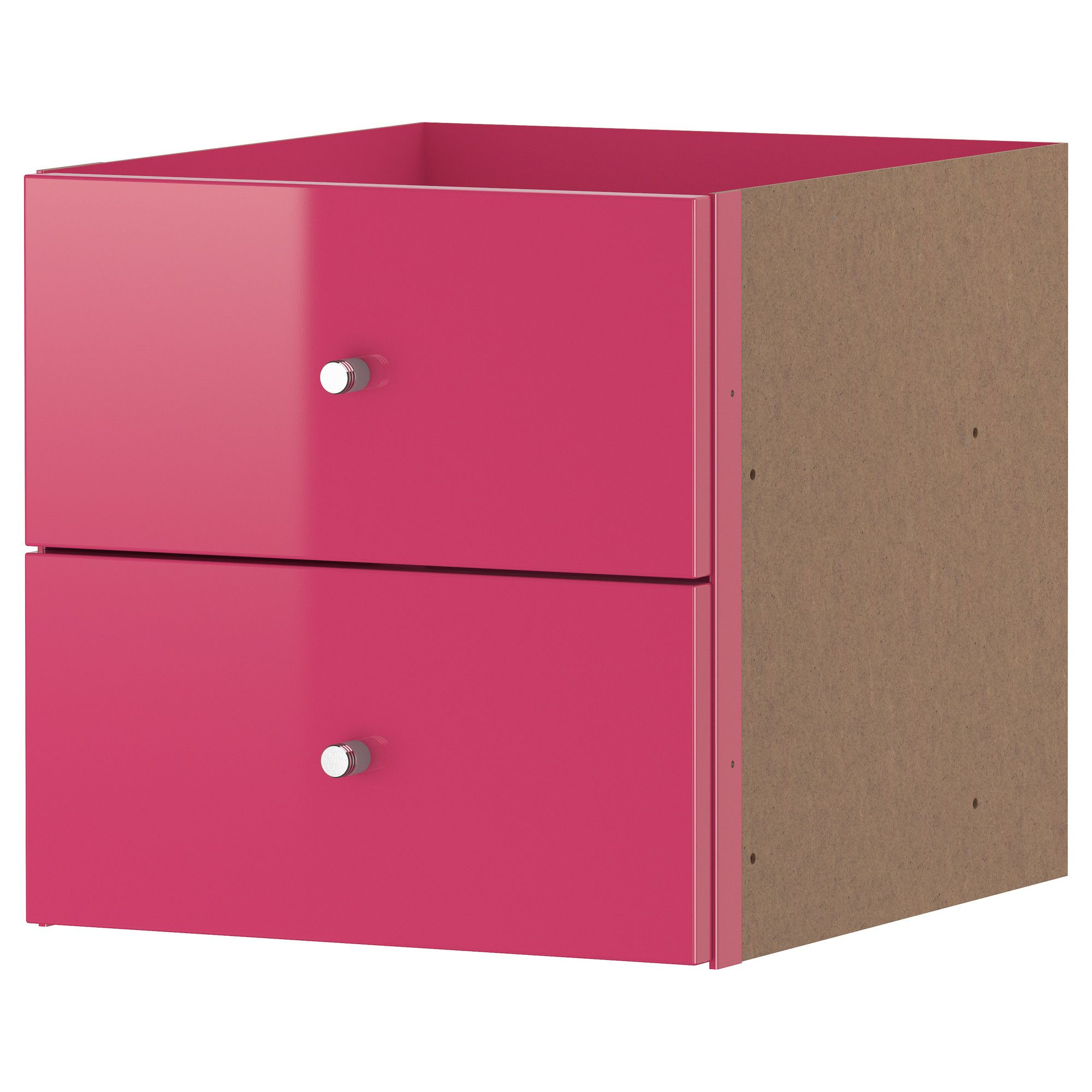 expedit casier 2 tiroirs ultrabrillant rose ikea bureau de travail pinterest high. Black Bedroom Furniture Sets. Home Design Ideas