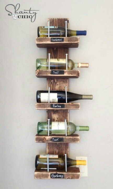 Diy 2x4 Wine Rack With Images Decor Inspiration Diy Diy Wine Rack