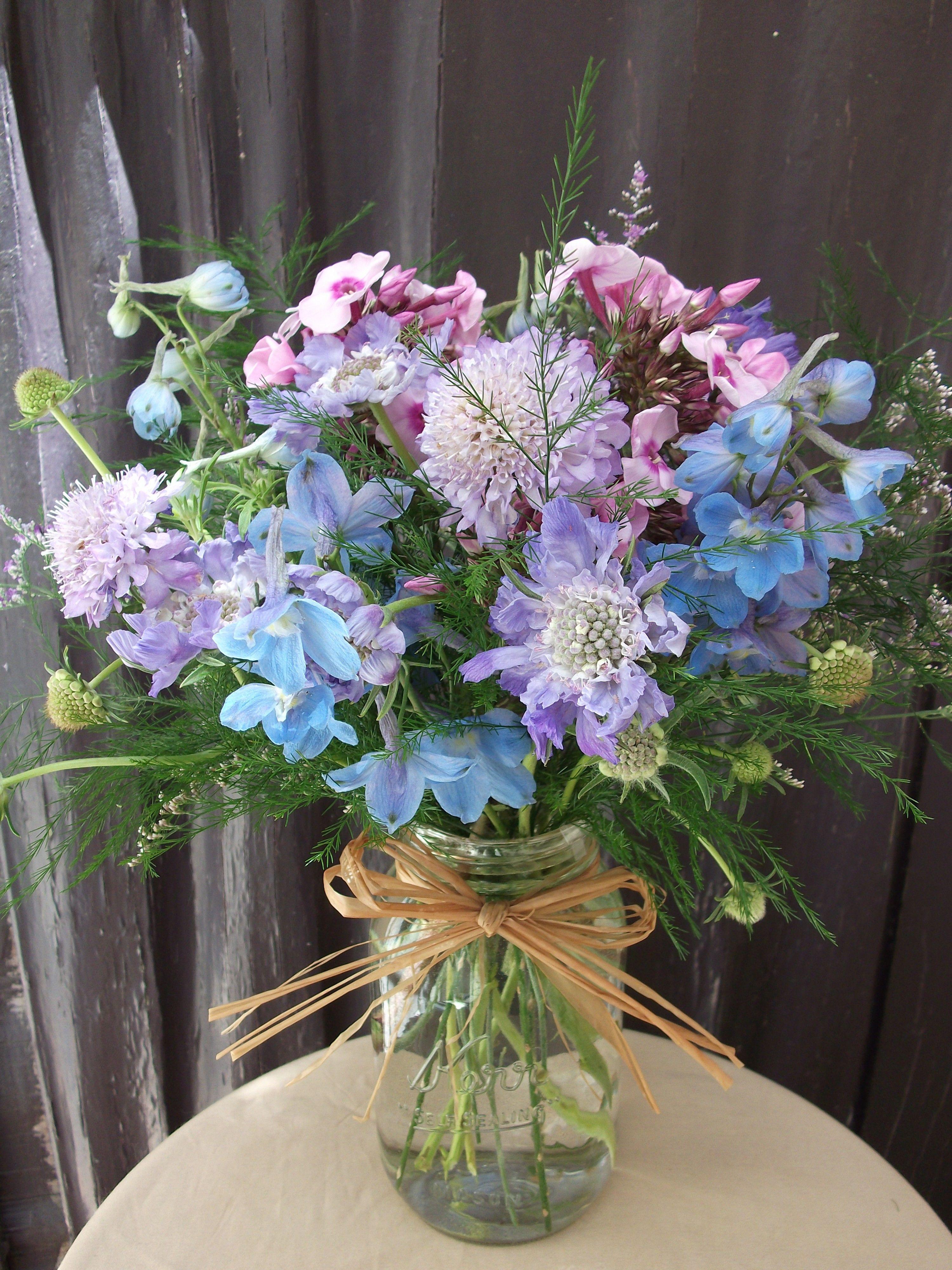 Wildflowery Mason Jar Mason jar flowers, Flower bouquet