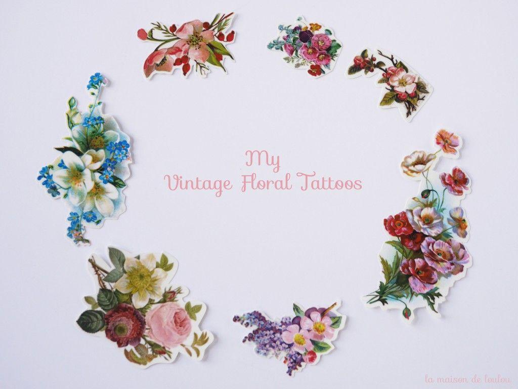 97a7db70a La maison de Loulou et les chromos A part of me: vintage floral tattoo