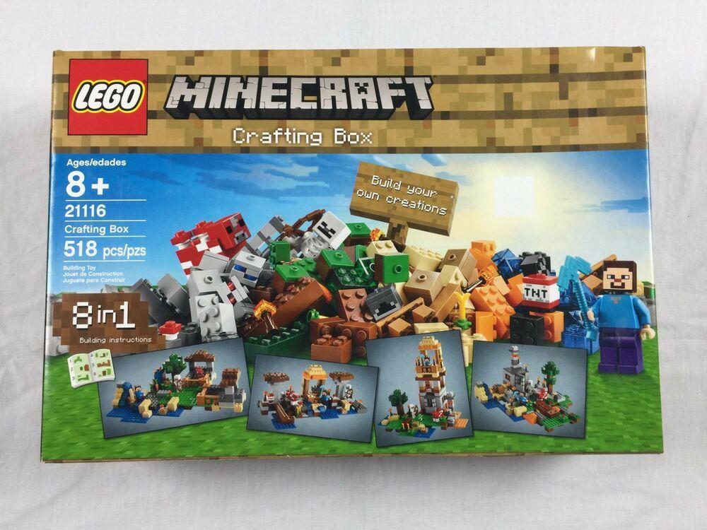 Lego Minecraft 21116 Crafting Box Brand New Factory Sealed Retired Set Minecraft Playing Game Lego Minecraft Minecraft Toys Craft Box