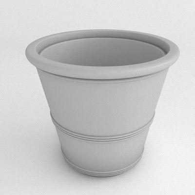 TerraCastProducts Barrel Round Pot Planter