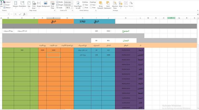 نموذج يومية مبيعات لمحل بالاكسل جاهزة Excel مدونة خبرات محاسب Excel Bar Chart Chart