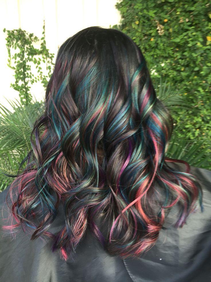 Oil slick. Joico Intensities. Mermaid hair. Unicorn hair
