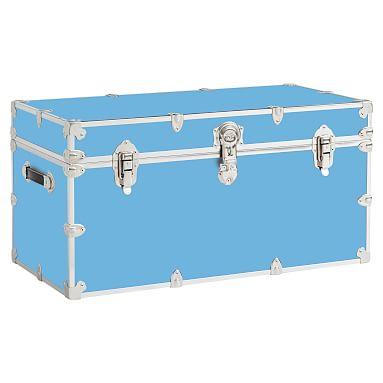 Dorm Trunk, Light Blue With Silver, XXL