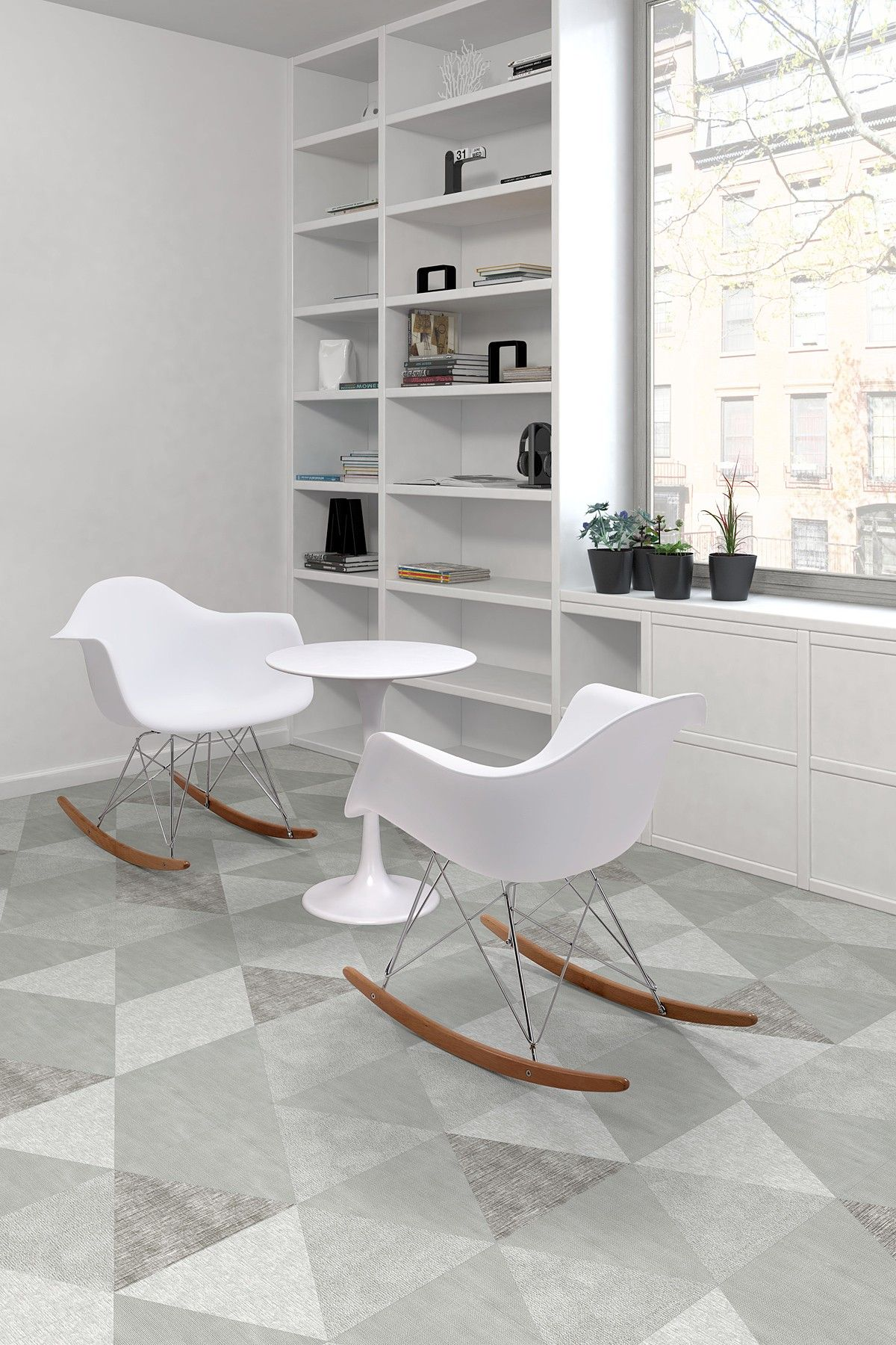 White Rocket Chairs | TRIANGLES | Pinterest