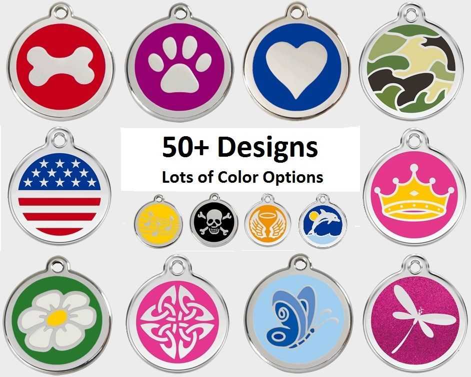 ENGRAVED DOG TAGS 50+ Designs, Personalized Enamel Pet Cat ID Custom Red Dingo in Pet Supplies, Dog Supplies, Tags & Charms   eBay